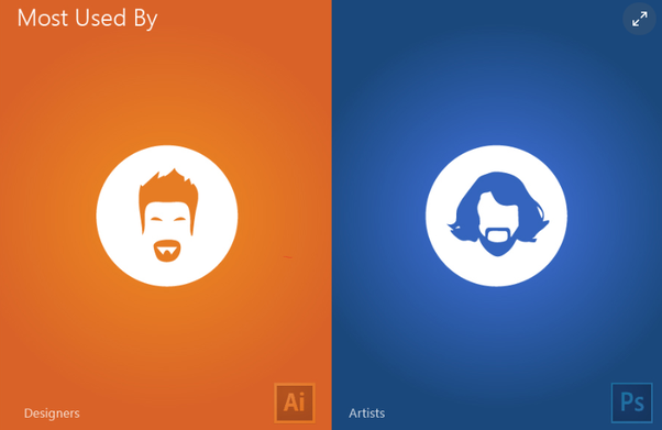 difference between illustrator and photoshop