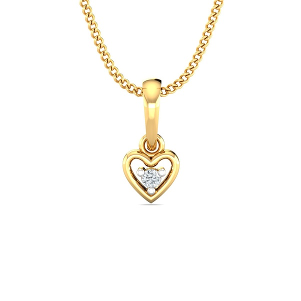 c6a828f22 A loving heart cannot look away from this heart-shaped diamond pendant.
