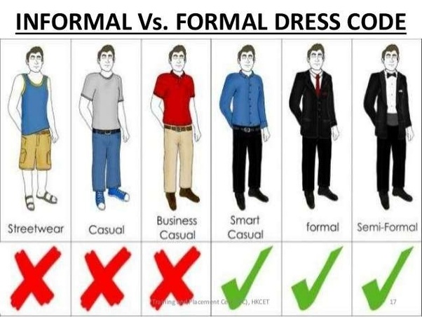 2aec603dd70 What is the difference between formal and informal clothes  - Quora