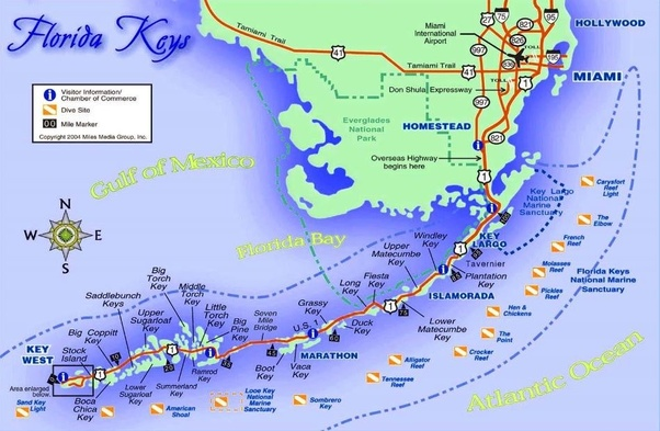 How Many Miles From >> How Many Miles Is It To Key West Florida Quora