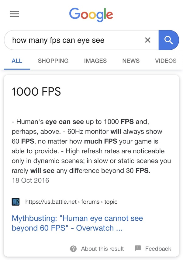 If it is true that the human eye can only see 24 frames per