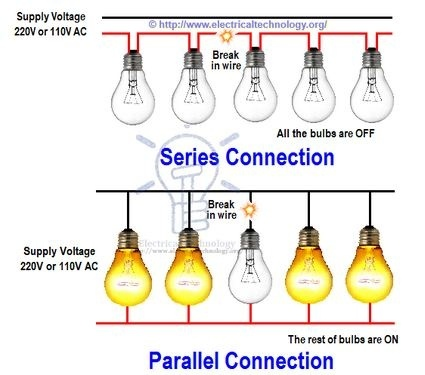 what is a parallel type of electricity flow in a house quora rh quora com Light Bulb 4 LED Light