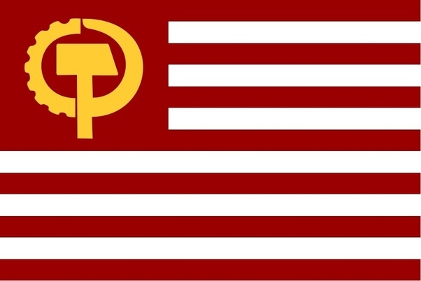 If The Us Was A Communist Country What Would The Flag Look Like Quora