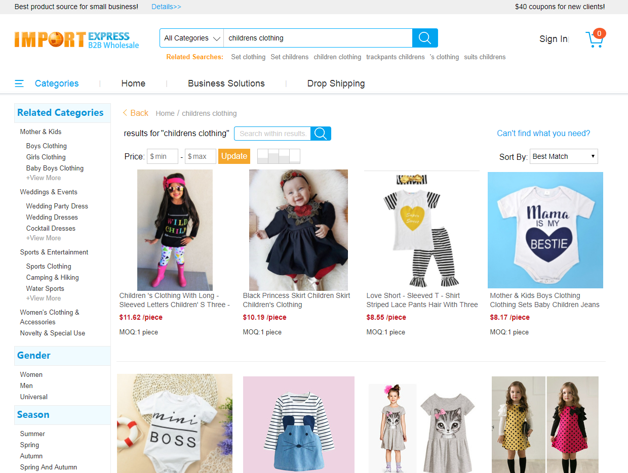 a09742d68f What is the best website to purchase wholesale childrens boutique style  clothing