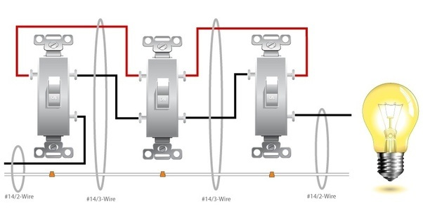 3 way and 4 way switch wiring diagram how to wire a 4 way switch with 4 lights? what are some ...