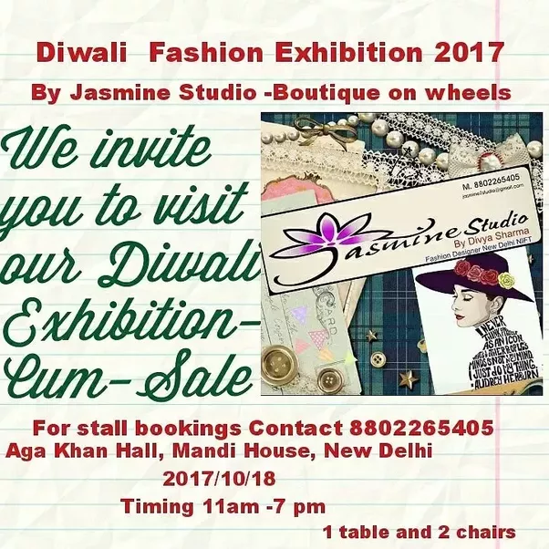 What are the best places to visit during the diwali exhibition quora we are inviting diwali fashion exhibition 2017 stopboris Images