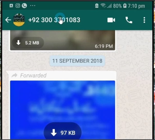 How to see who the original sender of a WhatsApp message forwarded