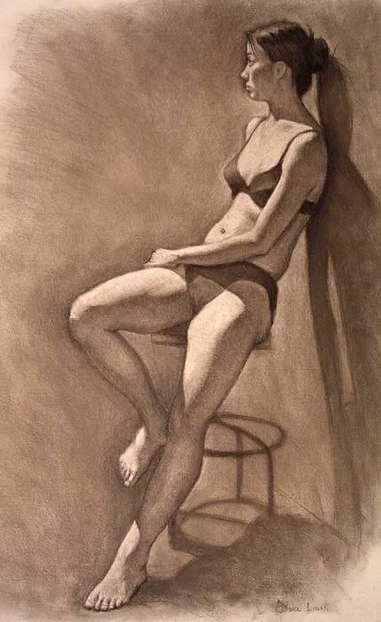 Put simply a figure drawing is a drawing of a figure specifically the human figure and typically either from a reference image or a model