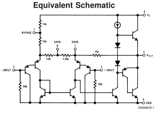What is the circuit diagram of the LM386 audio amplifier Quora