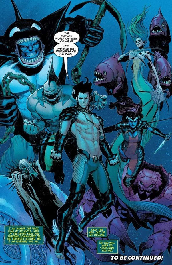 Which comic book house has the more powerful Atlanteans