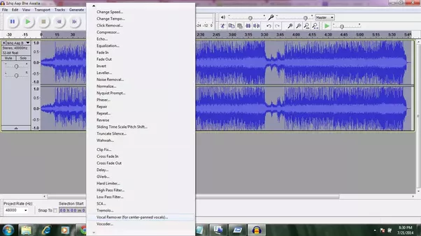 Audacity vocal remover plugin download