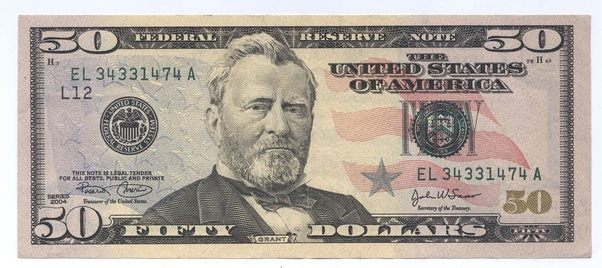 how to tell if a fifty dollar bill is real