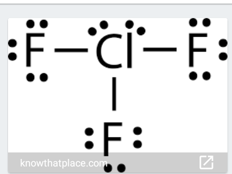 In The Structure Of Clf3 What Is The Number Of Lone Pairs Of Electrons On The Central Atom Of Cl Quora