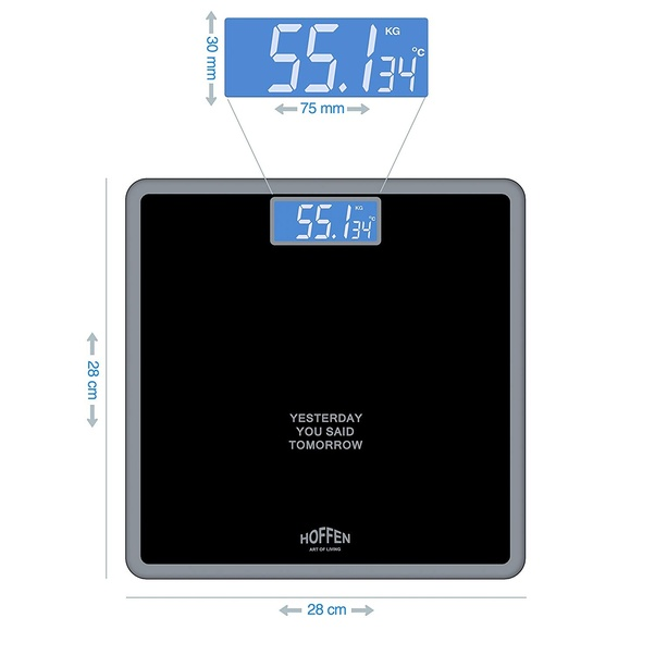 3a97666ce Keeping a track of your weight accurately is not easy without the right  equipment! The digital body fitness weighing scale by Hoffen has been  designed with ...