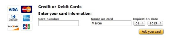 what is name on card when ordering something online quora