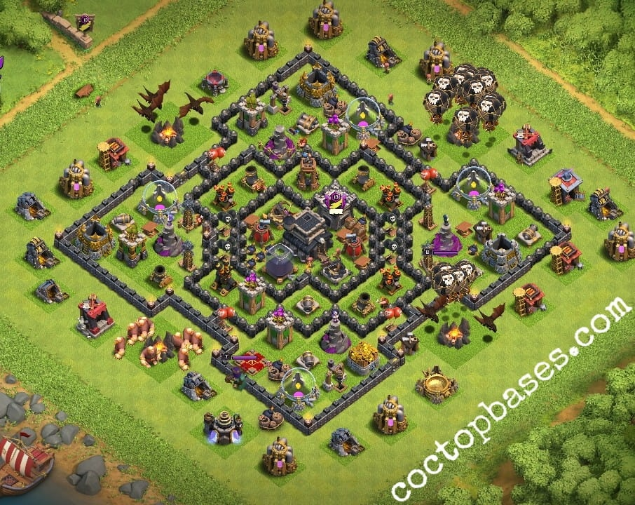 Defence Best Base Th9 10