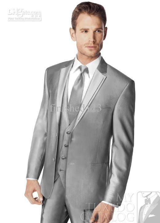 What shirt and tie combo should I wear with my silver suit on my ...