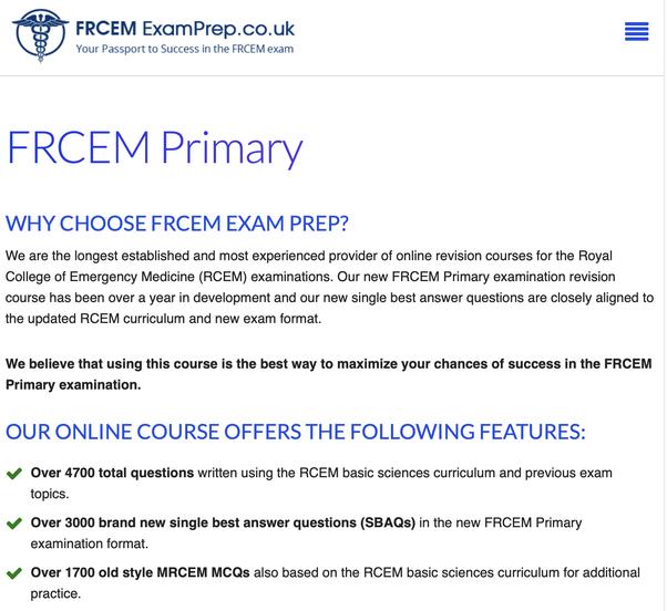What books do I read for FRCEM Primary exam? - Quora