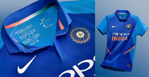 36a11d372 The most interesting feature about the jersey is the dates of India s past  world cup victory (ODI  1983   2011