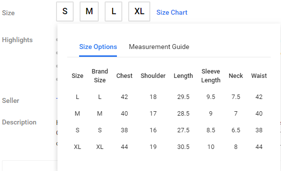 How To Select The Size Of Shirts In Flipkart Quora