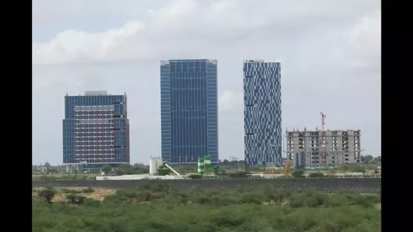 What is the progress on the gift city quora a few upcoming buildings negle Gallery