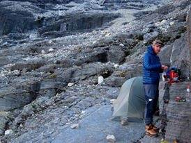In this case its a bivouac or bivvying. Bivvying is just c&ing simplified. Sometimes itu0027s nice and you have a tent & How do mountaineers set up camps while climbing mountains? - Quora
