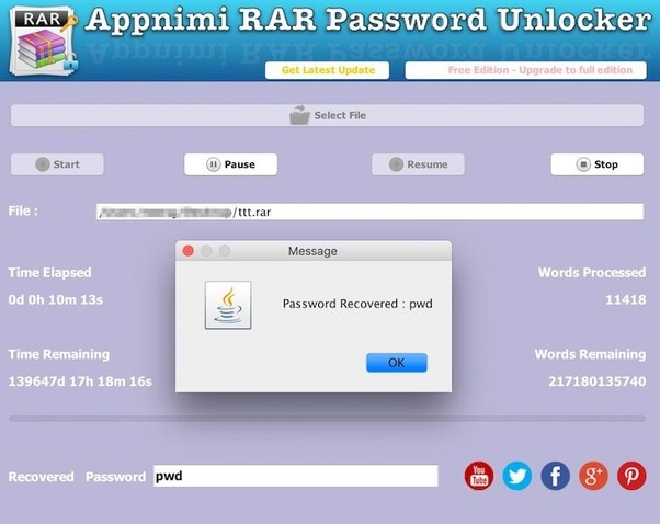 unlock protected rar files online