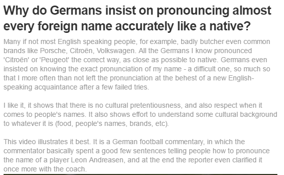 Why Do Germans Insist On Pronouncing Almost Every Foreign Name