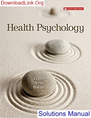 Where can I get a solutions manual for Health Psychology, 4th