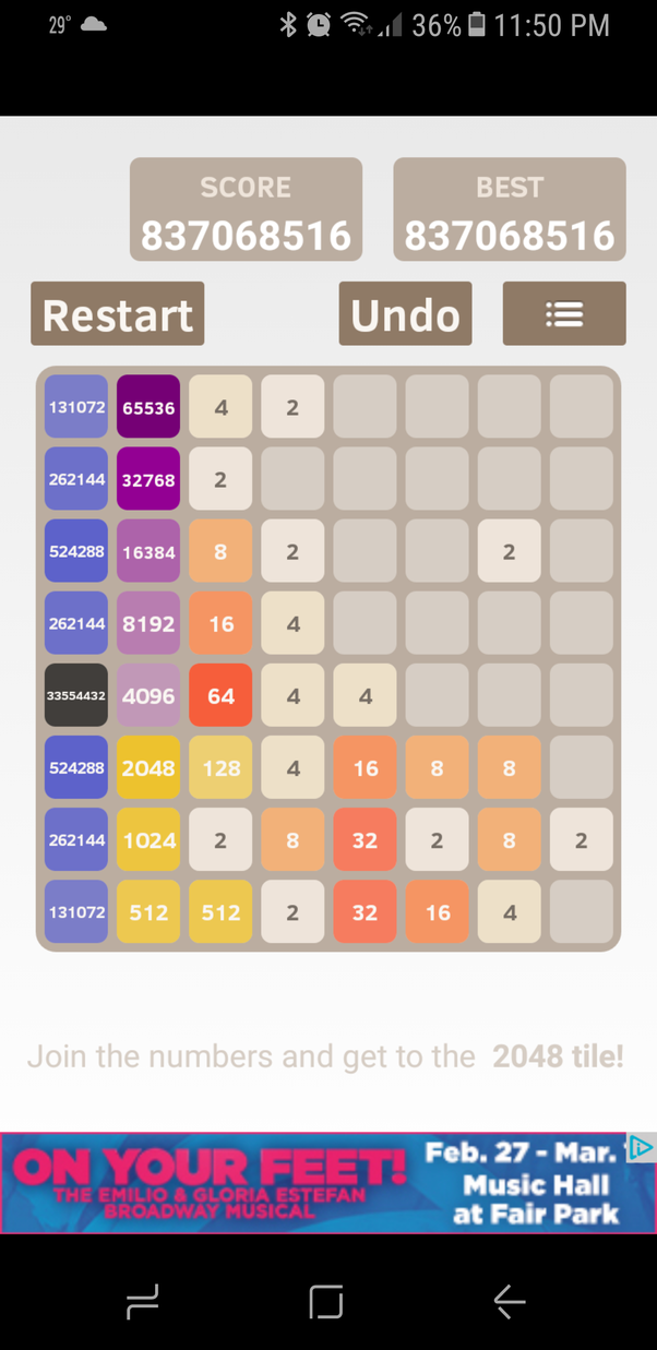What Is The High Score In 2048 8x8 Quora