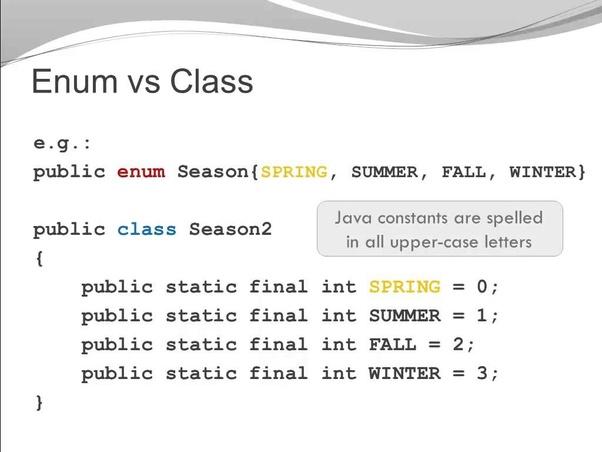 What is enum in java? - Quora