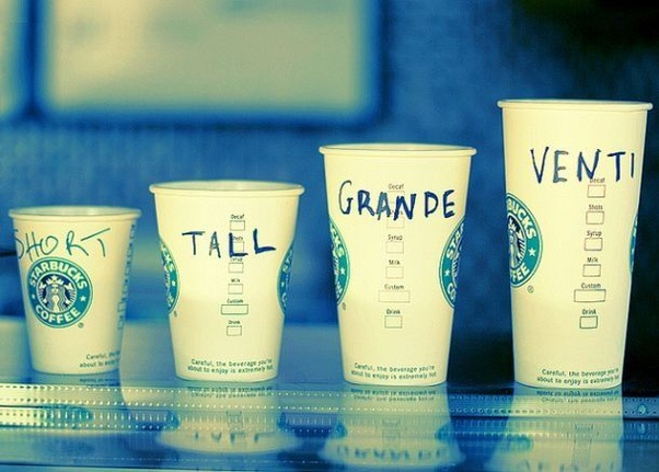 Who Made Up The Cup Size Names At Starbucks And What If