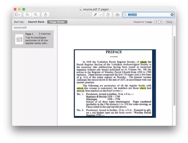 is there a program that will generate a searchable pdf from a non