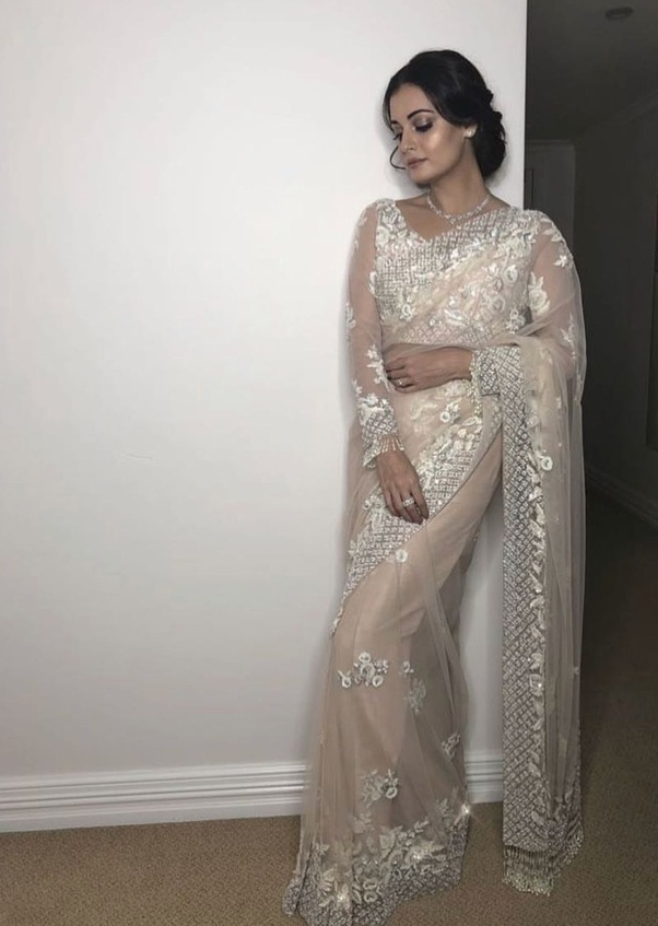 04826ba0fbaad0 What colour of saree matches a silver blouse? - Quora