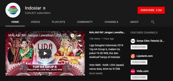 acara tv yang ada di youtube