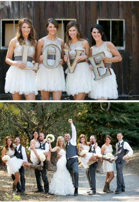How should the bridesmaids, groomsmen, flower girl, and ring bearer ...