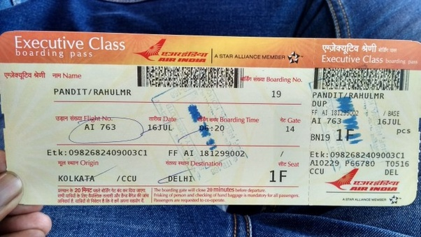 Class Tickets Then He Explained Me The Offer And I Quickly Upgraded My Economy Class Ticket To Business Class With My Air India Miles At No Cost