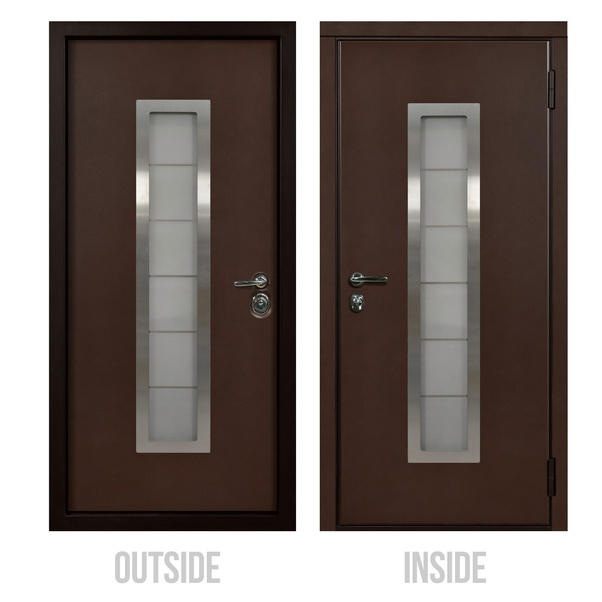 How Do You Like The Brown Front Doors? This Color Is A Timeless Classic. It  Perfectly Matches Both With Brick Shades, And With A Green Landscape, ...