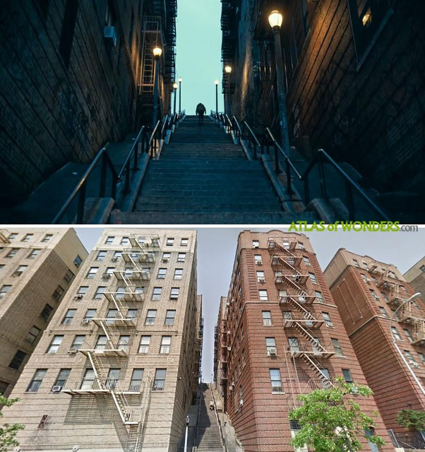 In The Movie Joker Exactly Where Is That Long Staircase