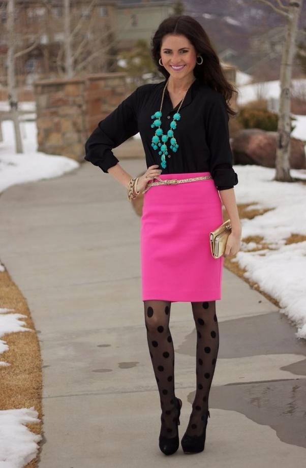 Are not black shiny pantyhose heels skirt information true