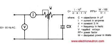 Single phase capacitor sizing