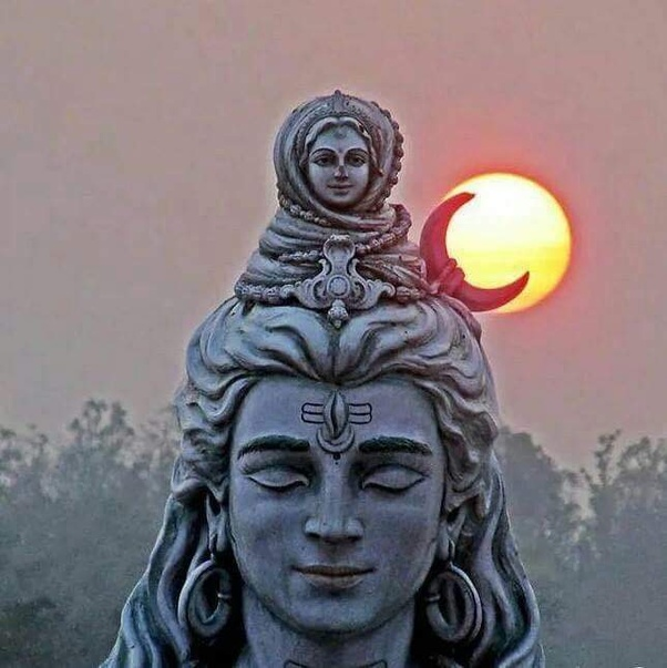 Why does the Hindu god Shiva have a crescent moon on his forehead