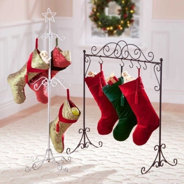 Whats a good way to arrange christmas stockings if you dont have a wrought iron stocking hangers these are usually easier to find online than in store but if you foresee yourself not having a fireplace in the near future solutioingenieria Choice Image