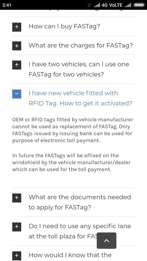 How to use, activate, or recharge a (FASTag) RFID tag