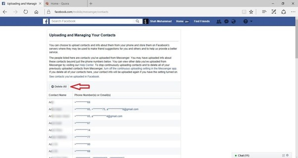 How to remove a non-friend from Facebook messenger contact ...