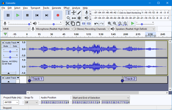 How to convert an aup file (audacity file) into a mp3 or wav file