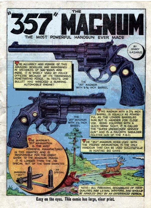 What's more powerful, a  357 Magnum or a desert eagle? - Quora