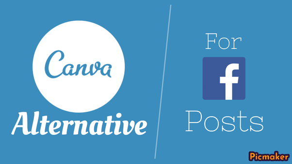 What are some alternate websites to Canva to design Facebook posts