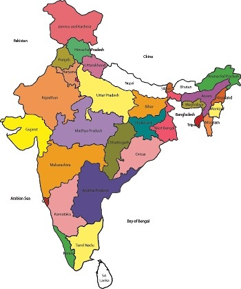 India Map With All States.How Many States Are There In India Quora