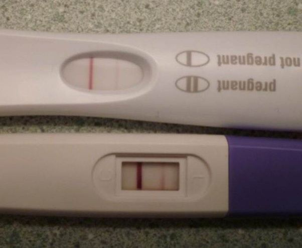 What is the faint test line in home pregnancy test after 30 mins the reason the tests ask you to read them within 5 minutes is that is the time they are accurate after that you can get what are called evaporation lines solutioingenieria Choice Image